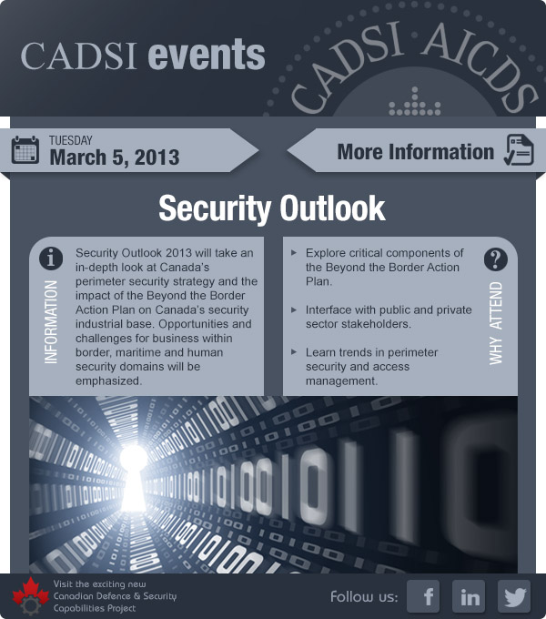 Security Outlook 2013 - Presented by CADSI