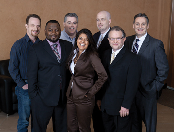 From left: George Tomlinson, Protocol Computers; Andrew Aris, CAMH; Paul Carson, ASG Security; Noreen Jivraj, St. Joseph's Health Centre; Paul Greenwood, St. Michael's Hospital; Elliott Goldstein; Todd Milne, UHN.